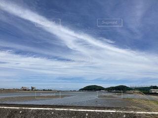 すじ雲の写真・画像素材[4700830]