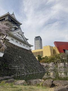 春の小倉城の写真・画像素材[4700841]
