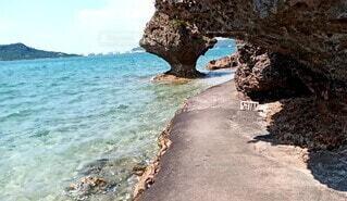 沖縄の海辺の風景です。の写真・画像素材[4709190]