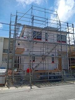 建設中の建物の写真・画像素材[4712094]