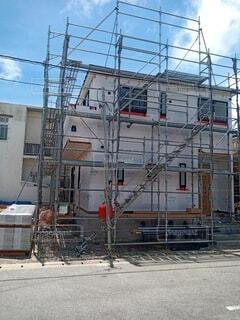 建設中の住宅の写真・画像素材[4712095]