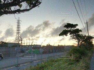 うるま市の道路の写真・画像素材[4718597]