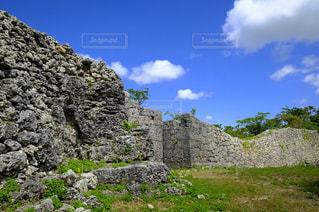 石の壁の写真・画像素材[1197673]