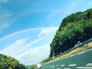 空に虹の写真・画像素材[1563768]