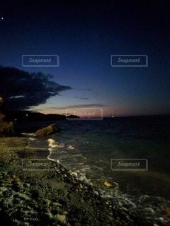 銀河ブルーに染まる夜明けの写真・画像素材[4717185]