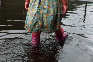 水溜りの写真・画像素材[4734760]