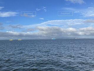 船から見た梅の写真・画像素材[4734115]