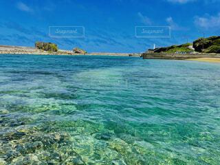 水面からの景色の写真・画像素材[4743309]