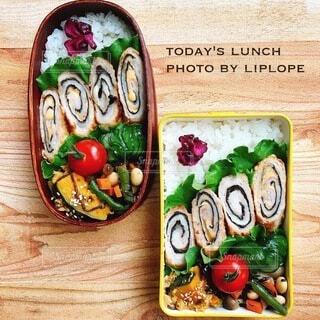 ささみの海苔チーズ巻き弁当の写真・画像素材[4739016]