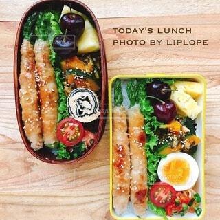 家庭菜園のアスパラを使った肉巻き弁当の写真・画像素材[4739020]