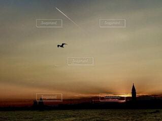 ヴェネツィア サンマルコ広場からの夕景の写真・画像素材[4766642]