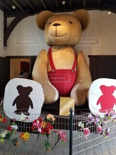 大きな熊さんの写真・画像素材[4761629]