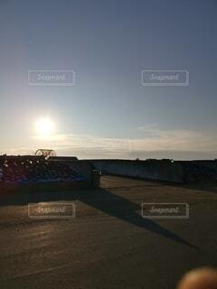 夕暮れのバンカーの写真・画像素材[4779102]
