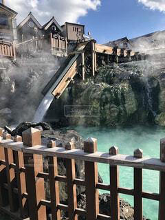 温泉が流れる街の写真・画像素材[4763592]