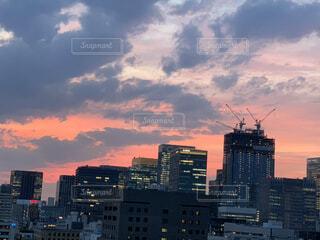 都心の夕焼けの写真・画像素材[4769408]