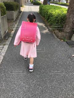 入学式の帰りの写真・画像素材[2004343]