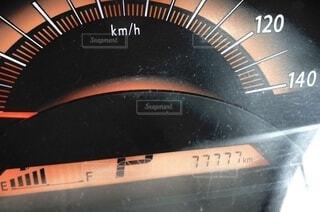 走行距離がゾロ目の写真・画像素材[4774544]