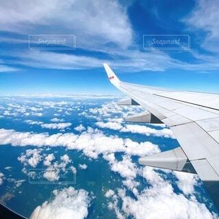 飛行機からの景色の写真・画像素材[4766417]