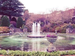 噴水のある風景の写真・画像素材[4768434]