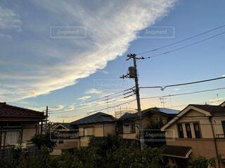 波みたいな雲の写真・画像素材[4768091]