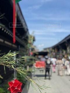 夏の休暇の旅行で訪れた町の風景の写真・画像素材[4763495]