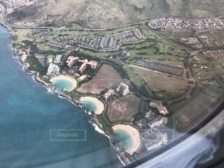 飛行機から撮ったコオリナリゾートの写真・画像素材[4763506]