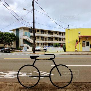 街中自転車オブジェの写真・画像素材[1134269]