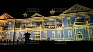 旧函館公会堂のライトアップの写真・画像素材[4765263]