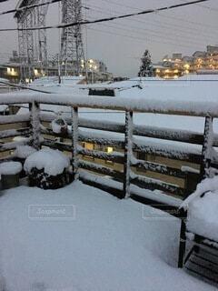 屋上からの雪景色の写真・画像素材[4771241]