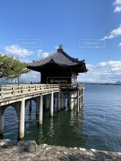 琵琶湖の浮御堂の写真・画像素材[4792878]