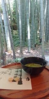 竹林とお茶の写真・画像素材[4768471]