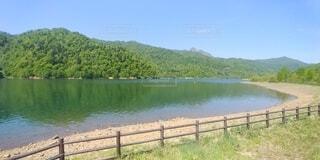 湖の写真・画像素材[4768536]