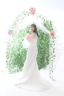ウェディングドレスを着た人の写真・画像素材[4768823]