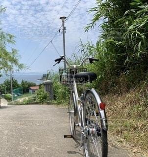 島の自転車の写真・画像素材[4769488]
