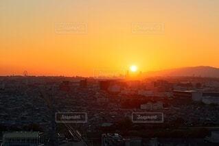日没時の展望台からの眺めの写真・画像素材[4769713]