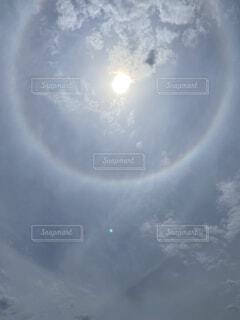 空の雲のクローズアップの写真・画像素材[4769600]