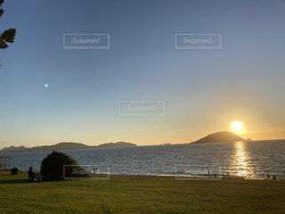 素敵な夕日の写真・画像素材[4770295]