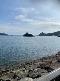 下田の静かな海の写真・画像素材[4770190]