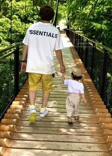 家族旅行「父と愛娘」の写真・画像素材[4770705]