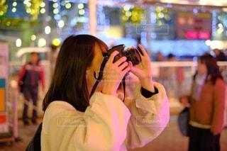 カメラ女子の写真・画像素材[4771009]