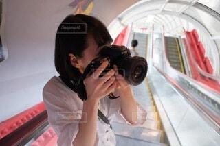カメラ女子の写真・画像素材[4771017]