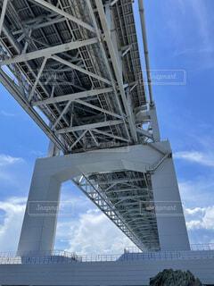 橋脚の下を眺めるの写真・画像素材[4779466]