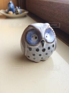 フクロウの置物の写真・画像素材[1289693]