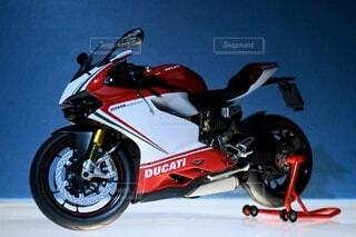 オートバイのプラモデルの写真・画像素材[4784536]