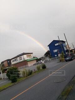 雨晴れた 虹🌈♡の写真・画像素材[4796195]