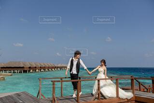 モルディブでの結婚式の写真・画像素材[4864818]