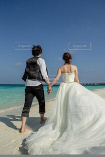 モルディブでの結婚式の写真・画像素材[4864826]