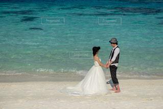 モルディブでの結婚式の写真・画像素材[4864823]