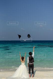 モルディブでの結婚式の写真・画像素材[4864821]