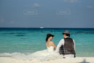 モルディブでの結婚式の写真・画像素材[4864825]